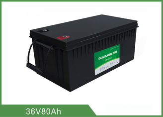 Customized 36V 80AH Floor Scrubber Battery Black Color High Consistency