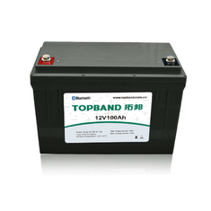 12V 100Ah Lithium RV Battery Lifepo4 350A Peak Discharge Current With Built In Bluetooth