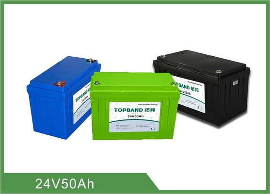 La batterie libre 50ah, 24v de phosphate de fer de lithium de pollution rechargeable lève des batteries de rechange