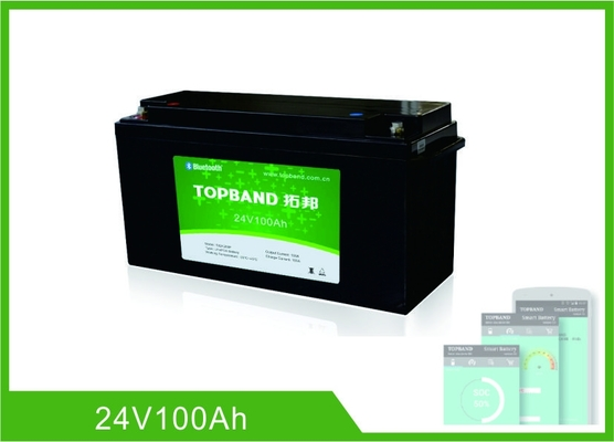 Chine Batterie au lithium profonde de cycle de 24V 100AH, batterie Bluetooth Lifepo4 rechargeable d'UPS usine